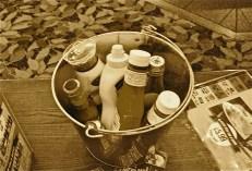 Bucket o' condiments & sauces