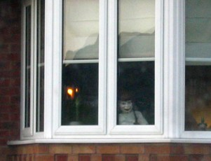 Sinister mannequin in someone's front room