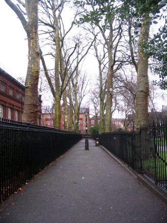 Lonely London sidewalk