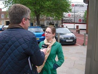 Street interview for BBC Radio about Brexit. I know nothing!