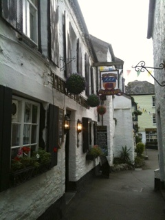 Quaint streets of Polperro