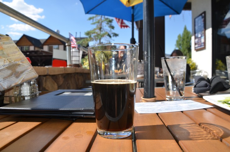 The house-made chocolate porter at Big Bear Lake Brewing Company.