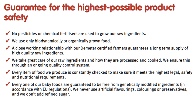 Holle organic formula guarantee for the highest possible product safety