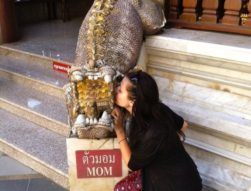Mom statue in Chiang Mai, Thailand