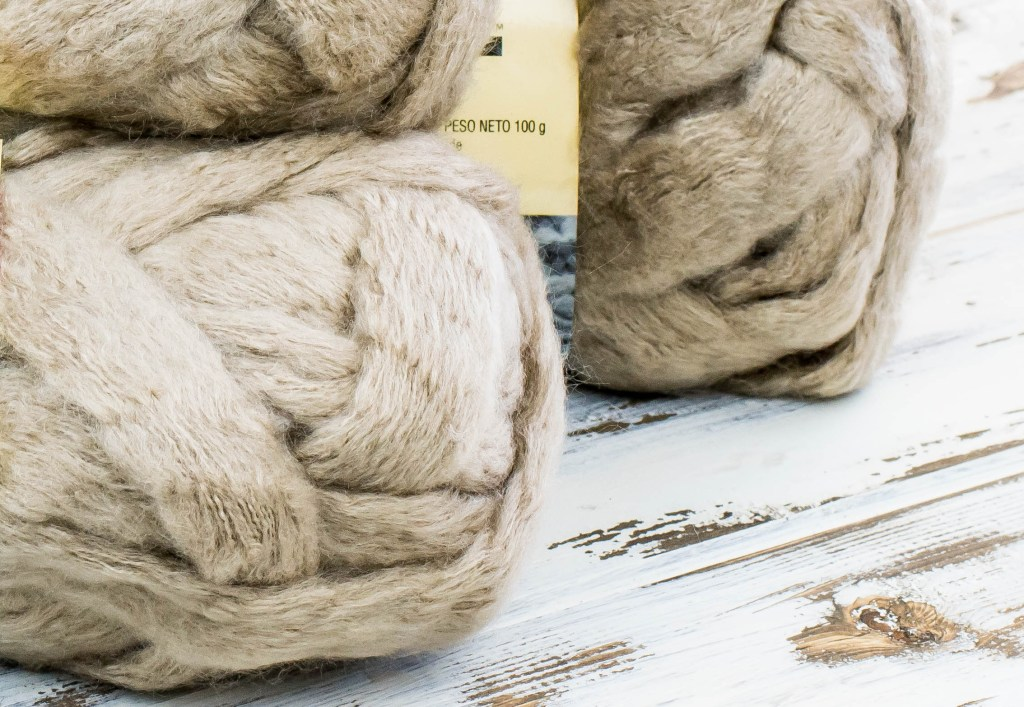 Premier Yarns Couture Jazz Beige close up photo for viewing texture