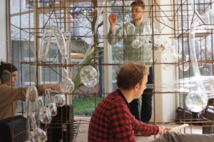 Voice installation by the glass department of Rietveld Academie