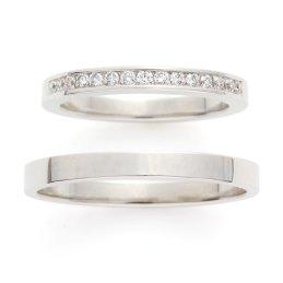 こだわりのダイヤモンドを使用したエタニティリング