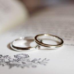 ミルうちコンビデザイン結婚指輪