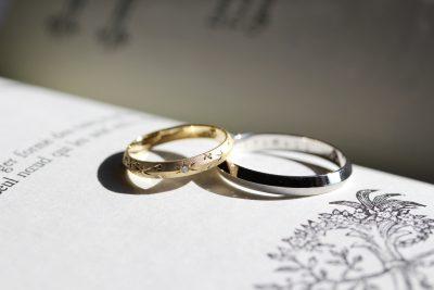 星柄のオーダーメイド結婚指輪
