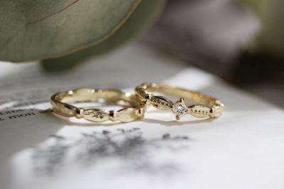 k18ゴールド×プラチナ900ミルうちオーダーメイド結婚指輪