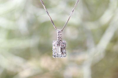角ダイヤ0.28ct+メレダイヤ0.06ct/素材:プラチナ900 ¥77,000