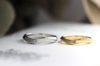 ミルうちウェーブ結婚指輪(鈴木様オーダーメイド)