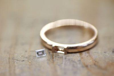 バゲットカットのダイヤモンドマリッジリング(T様オーダーメイド)
