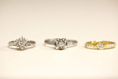 3本の指輪を一つの指輪へリフォーム(お客様オーダー)