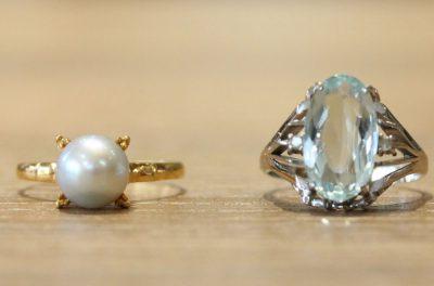 指輪とネックレスのリフォーム実例(お客様オーダー)ビフォー