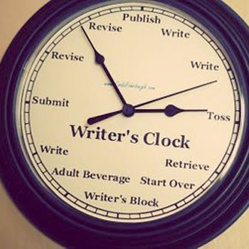 Image result for writer's clock