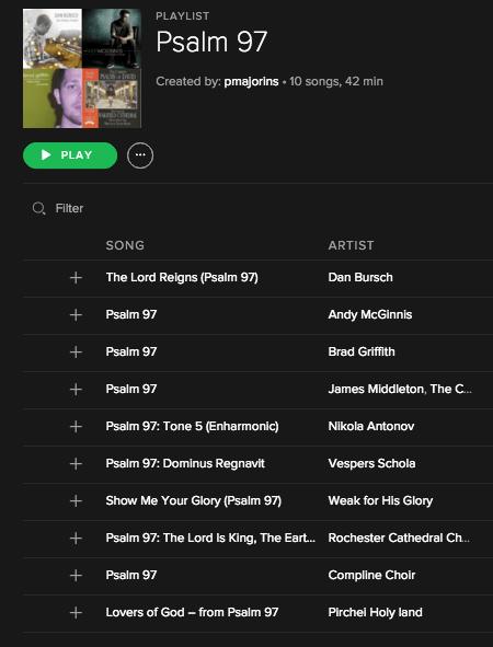 Psalm 97 Playlist