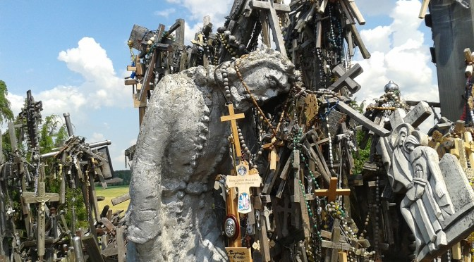 Afflicted Of God Christ Crosses The Hill Of Crosses