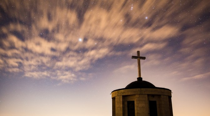 Starry Sky with Cross