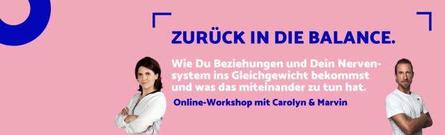 Workshop Zurück in die Balance am 21.10.21