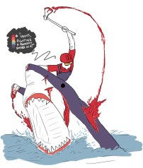 """""""Vechs Fighting a Bloody shark!"""""""