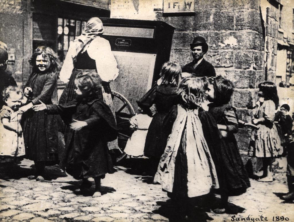 Mercato del latte a Newcastle nel 1890