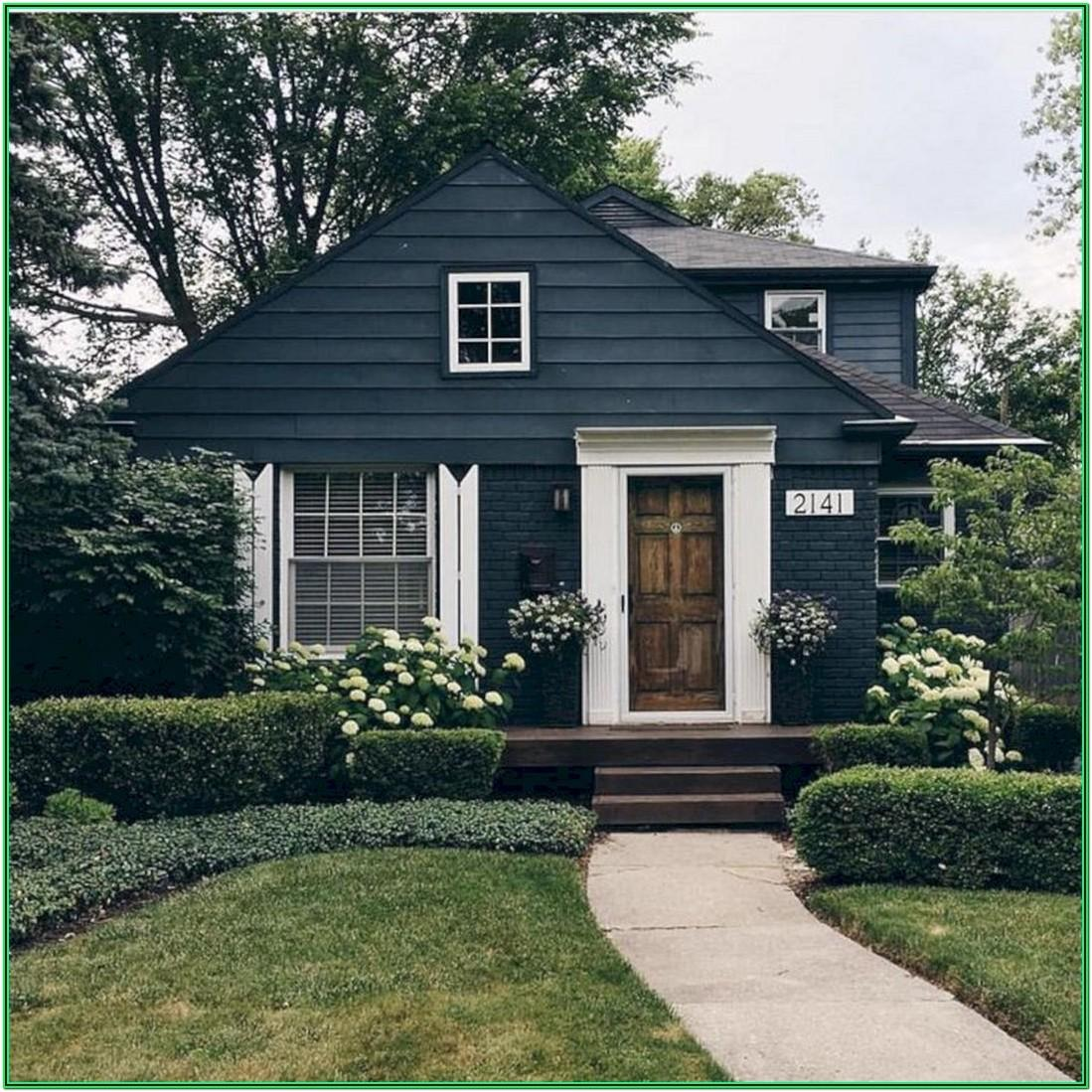 Blue Black Exterior Paint Color