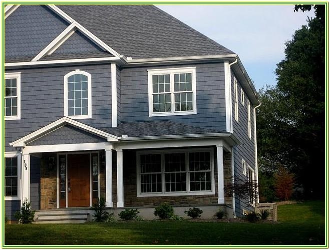 Blue Grey Exterior House Paint Colors