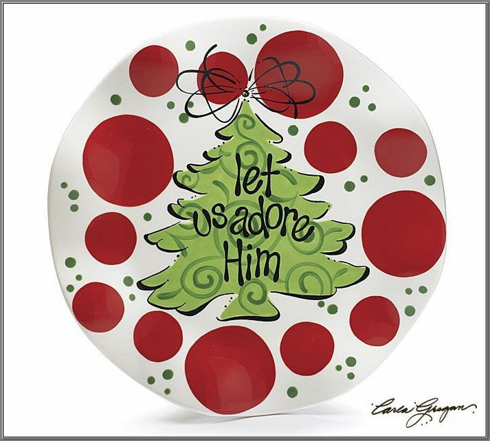 christmas pottery painting ideas