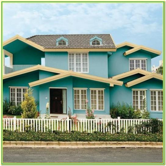 Colour Combination For Exterior Walls From Asian Paints