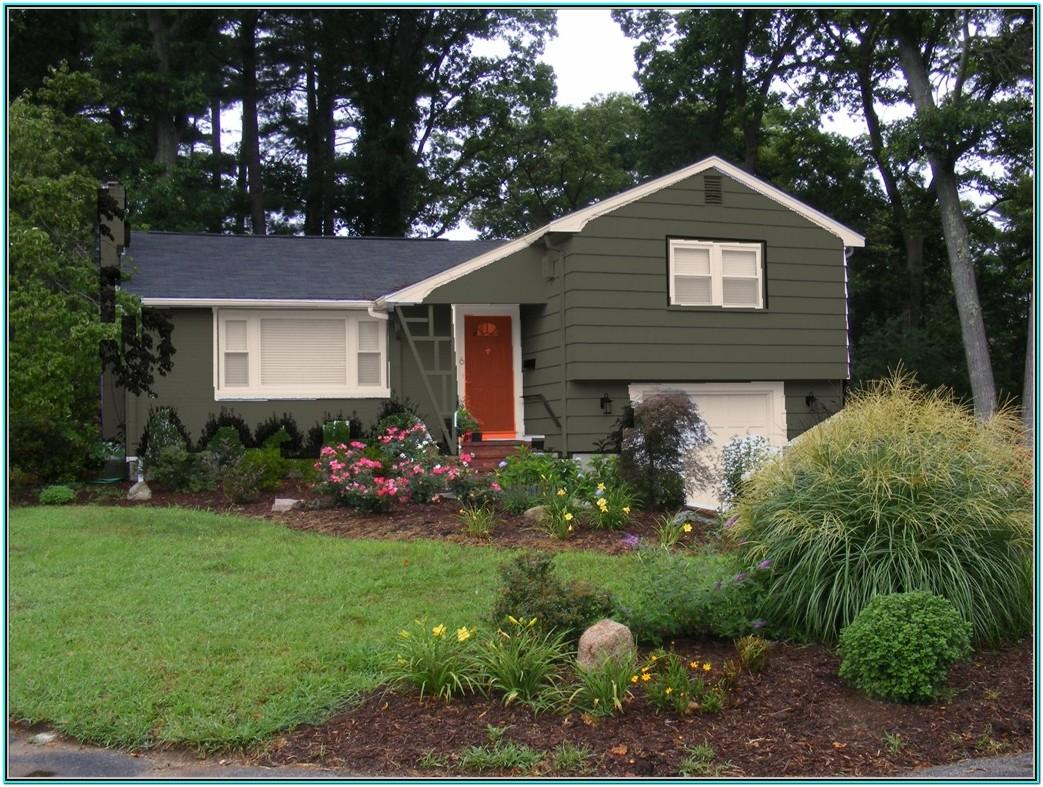 dark green exterior paint color schemes