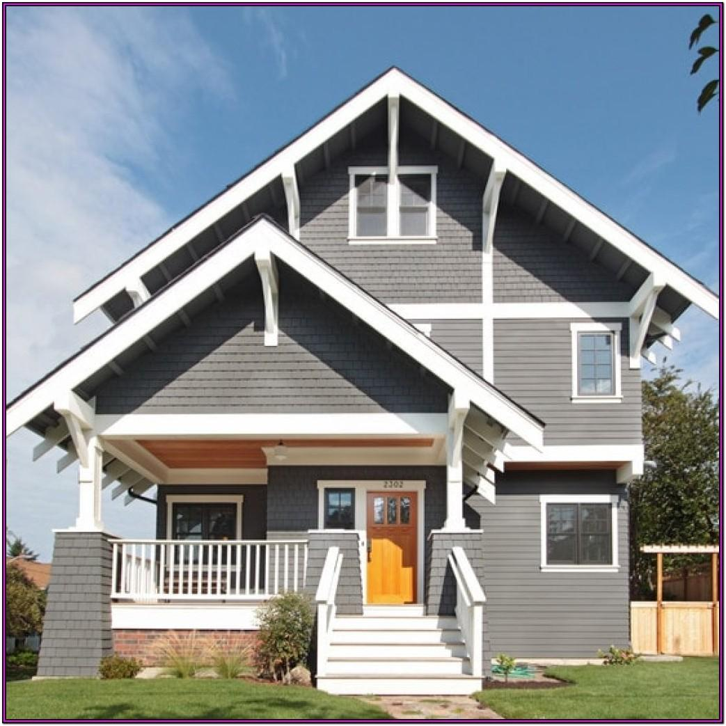 Exterior Grey House Color Schemes