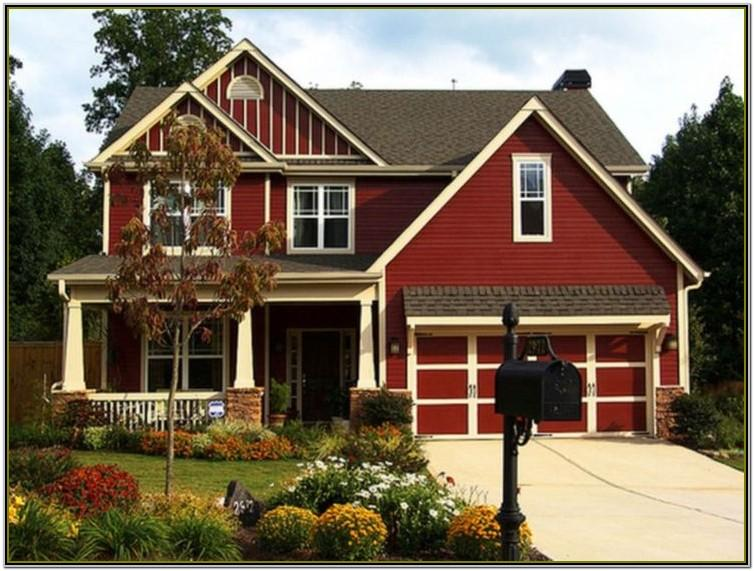 Exterior House Color Combinations With Brown Roof