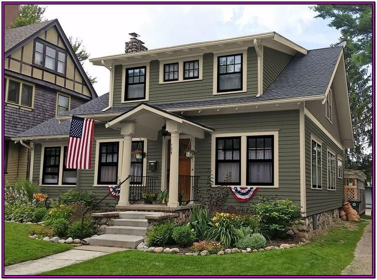 Exterior House Color Ideas With Black Roof