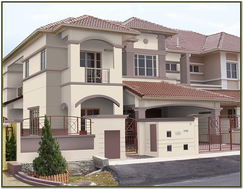 Exterior House Colour Combination India