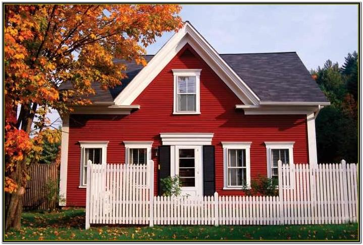 Exterior House Colour Schemes Red Roof