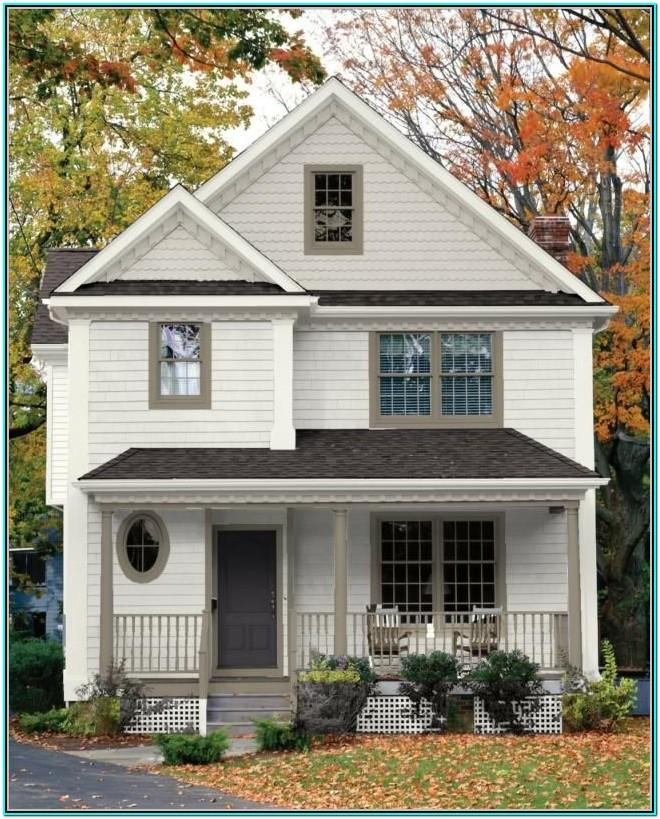 Exterior House Paint Color Schemes White Trim