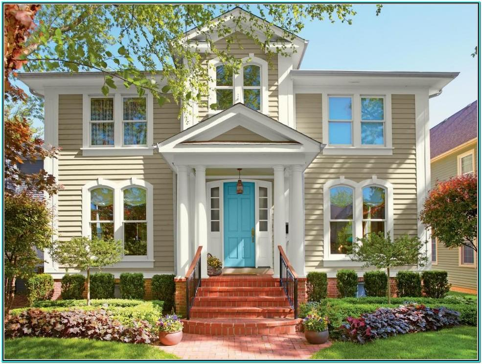 Exterior House Paint Colour Schemes