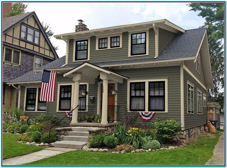 Exterior House Paint Schemes Green