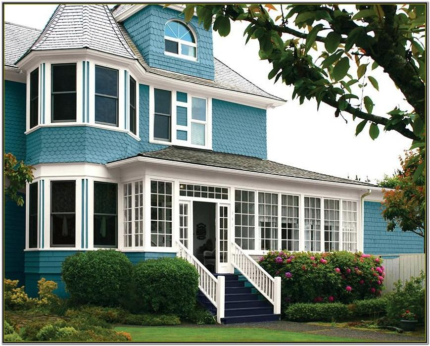 Exterior Paint Ideas With Brown Roof