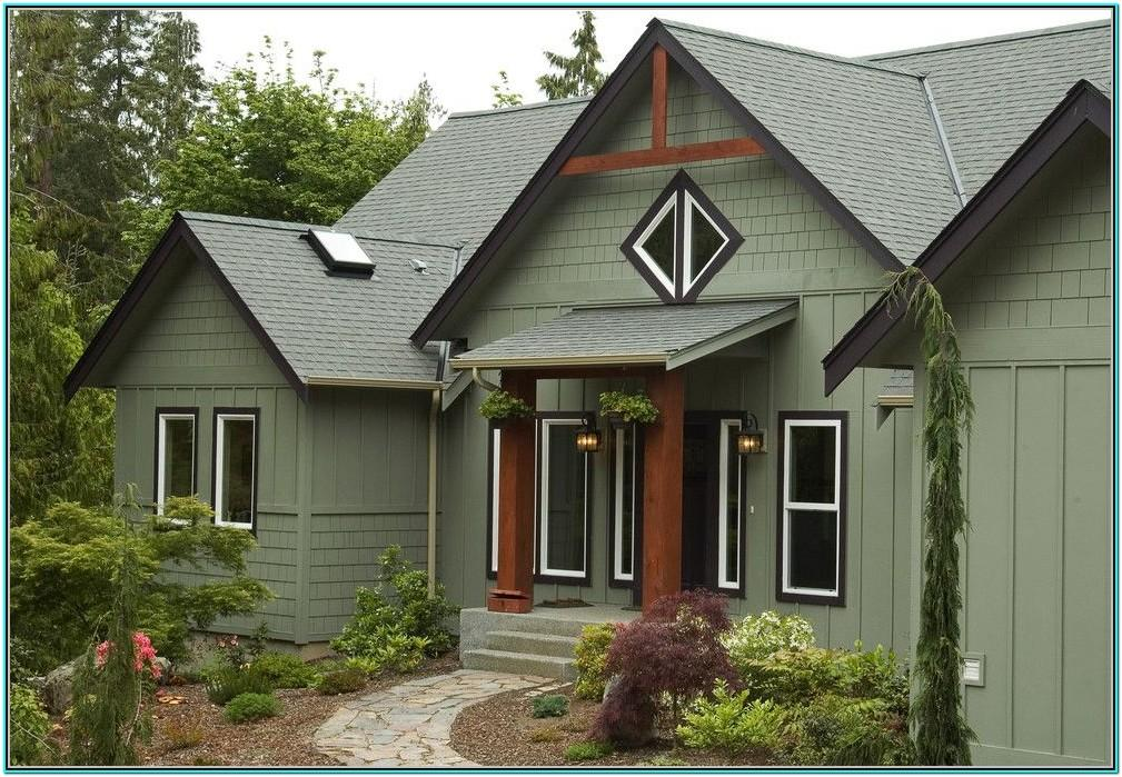 Green Exterior Paint Color Schemes