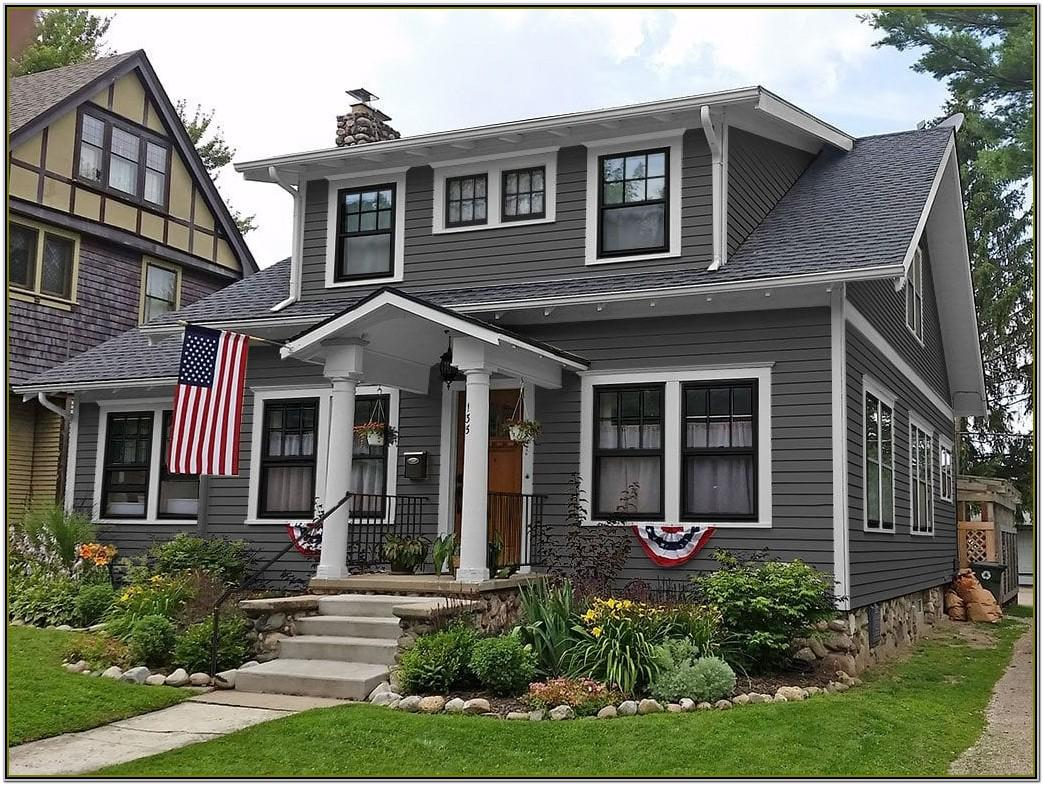 Grey Black And White Exterior House Colour Schemes