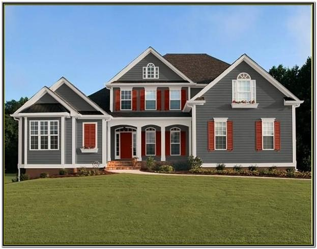 Grey Exterior House Color Schemes