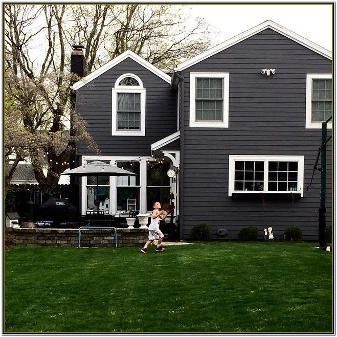 Grey White Exterior House Colour Schemes