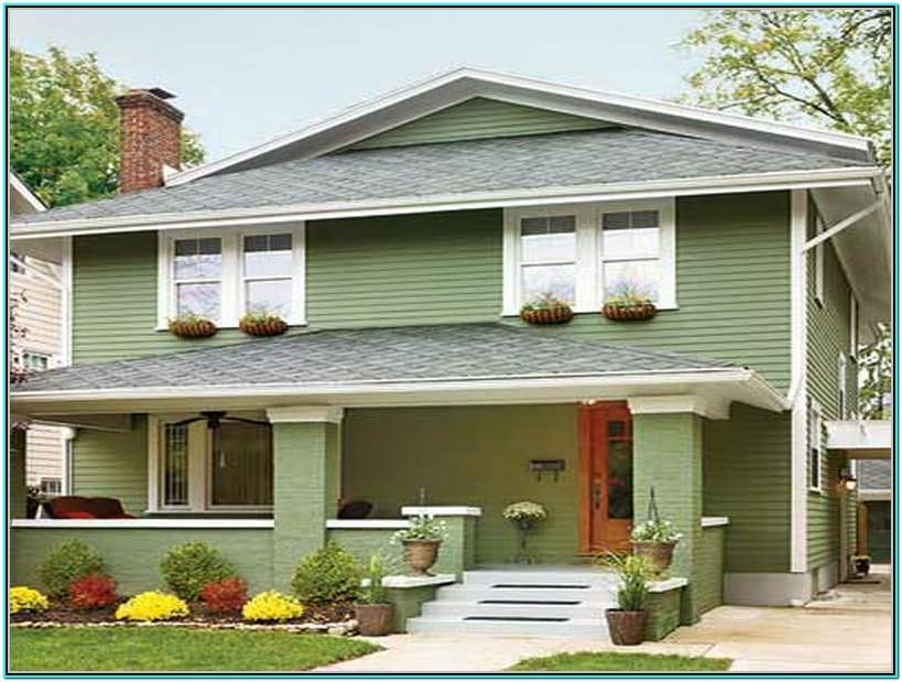Popular Exterior Green House Colors