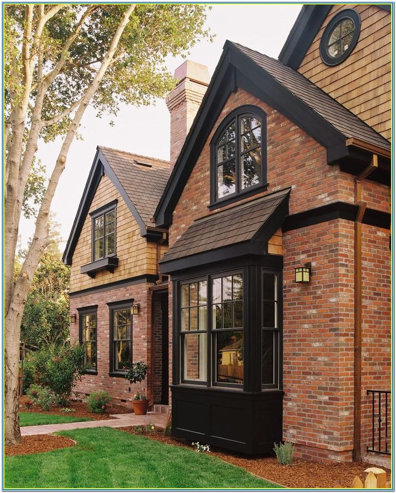 Red Brick House Trim Paint Colors