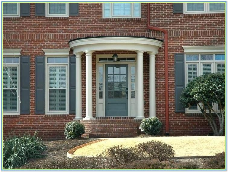 red brick ranch house trim colors