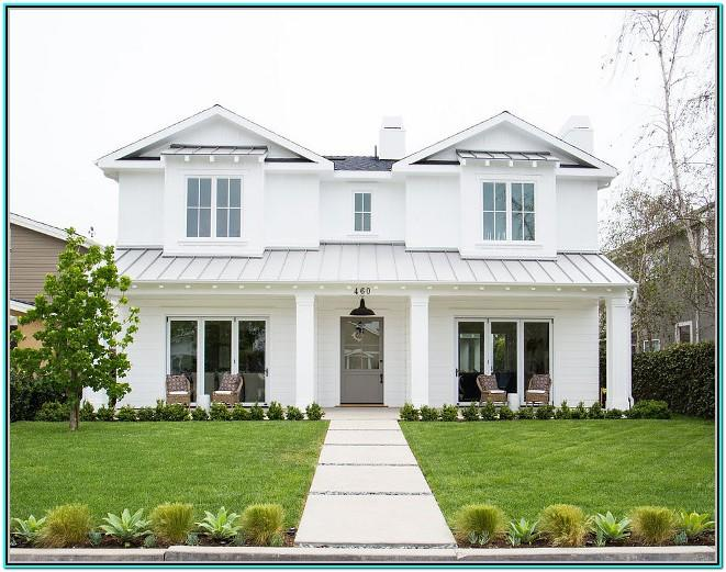 White Exterior Paint Color Ideas