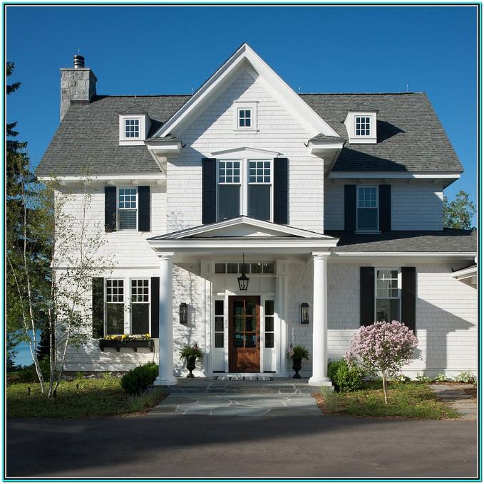 White Exterior Paint Color Schemes