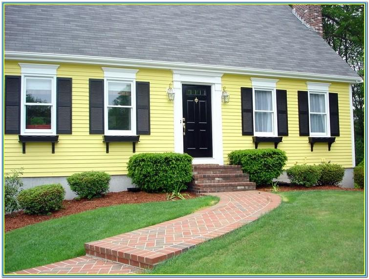 Yellow Exterior House Paint Colors Ideas